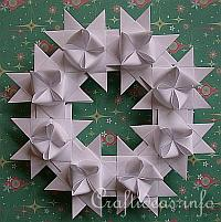 German Star Wreath in White