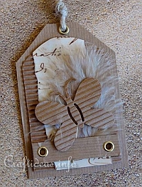 Gift Tag Craft - Natural Colored Tag with Butterfly Motif
