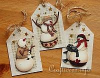 Gift Tag Craft for Christmas - Snowman Gift Tags 200