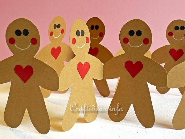 Gingerbread Man Paper Garland