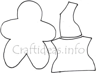 Free Christmas Craft Template  Gingerbread Man And Clothes Template