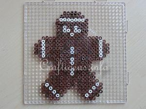 Gingerbread Man on Peg Board