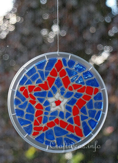 Glass Cling Mosaic Star Window Decoration 1