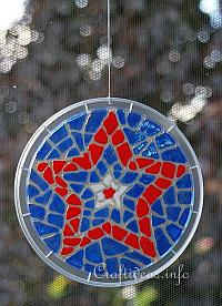 Glass Cling Mosaic Star Window Decoration