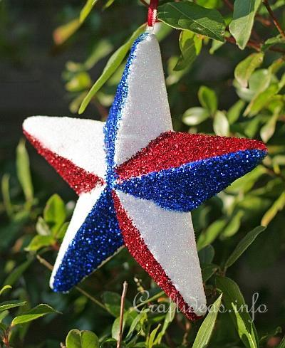 Glittery Independence Day Star 1