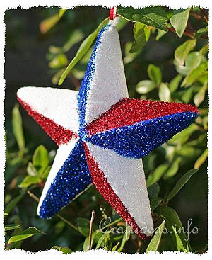Glittery Independence Day Star