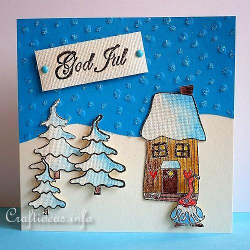 Danish christmas card craft god jul m4hsunfo
