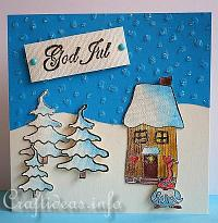 God Jul Christmas Card