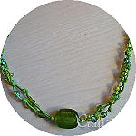 Green Necklace With Pendant 150