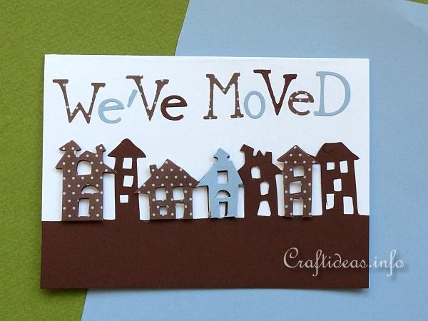 Greeting Card Craft - We've Moved