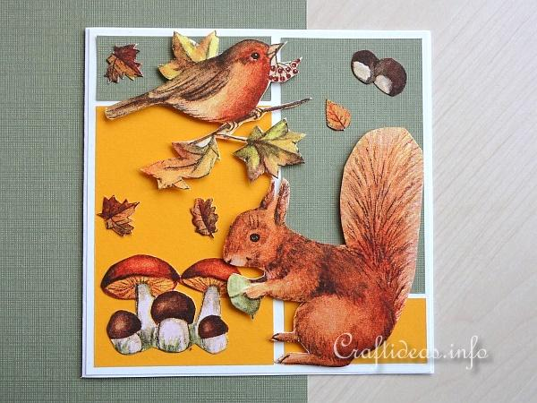 Greeting Card with Autumn Motifs