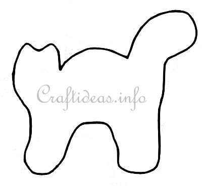 Free halloween pillow craft template for a cat for Black cat templates for halloween