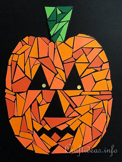 art and craft ideas for halloween crafts for paper mosaic 7398