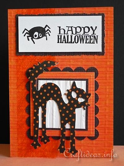 Halloween Card - Happy Halloween with Spotted Cat
