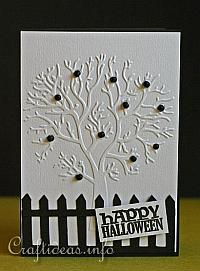 Halloween Card - Spooky Apple Tree