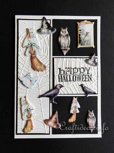 Halloween Card With Puffy Motifs 1