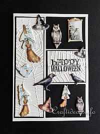 Halloween Card With Puffy Motifs