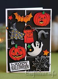Halloween Card with Fabric Embellishments