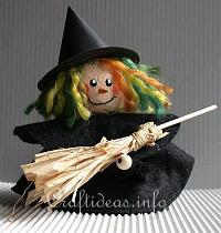 Halloween Craft - Clay Pot Craft - Halloween Witch