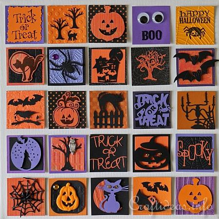 Halloween Inchies on Splined Stretched Canvas 2