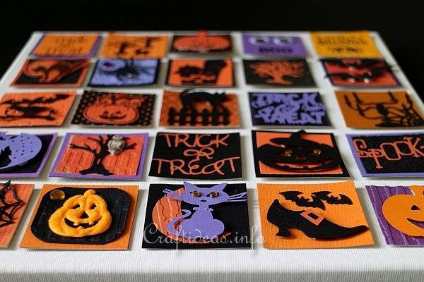 Halloween Inchies on Splined Stretched Canvas 3