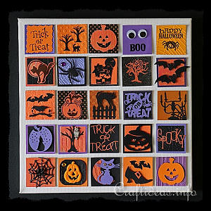 Halloween Inchies on Splined Stretched Canvas