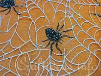 Halloween Organza with Spiders
