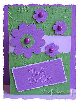 Craft idea birthday card for all seasons cheery birthday card happy birthday card purple flowers bookmarktalkfo Choice Image