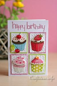 Happy Birthday Cupcakes Card