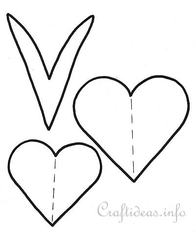 Hearts and Leaf Templates