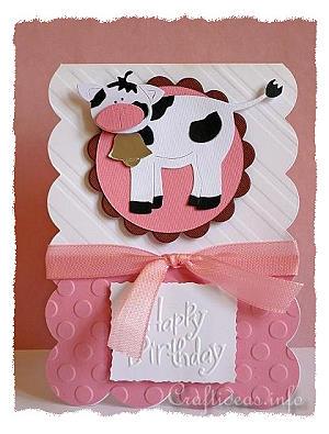 Birthday card to craft holsteiner cow birthday card holsteiner cow birthday card bookmarktalkfo Images