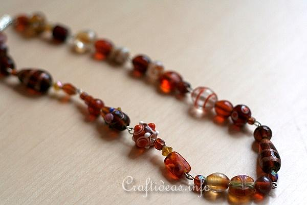 Jewelry and Bead Craft - Brown Beaded Necklace