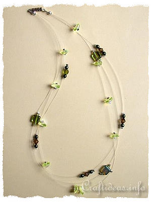 Jewelry and Bead Craft - Green Beaded Necklace