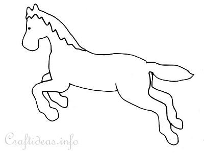 Free Coloring Book Page Jumping Horse General Jumping Coloring Books
