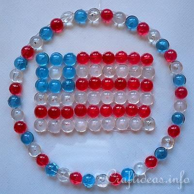 Kids Craft - Patriotic Flag Sun Catcher