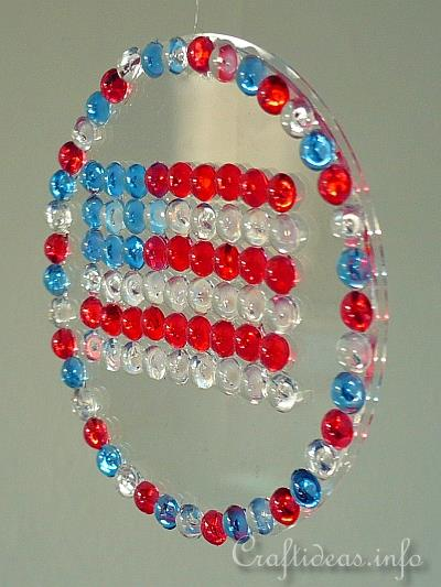 Kids Craft - Patriotic Flag Sun Catcher Hanging