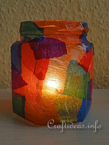 Free Kids Christmas Craft Project Christmas Tea Candle Light