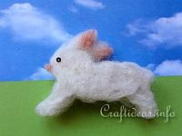 Kids Easter Craft - Needle Felted Bunny