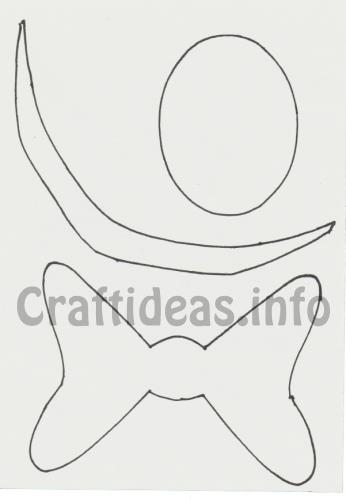 Free Fall Craft Template  Kite Bow Nose And Mouth