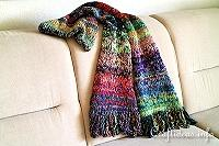 Knitting - Scarf of Many Colors