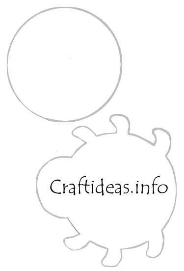 Spring Craft Pattern Or Template Lady Bug Tea Light Holder
