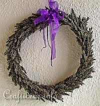 Late Summer Craft - Autumn Craft - Lavender Wreath 200
