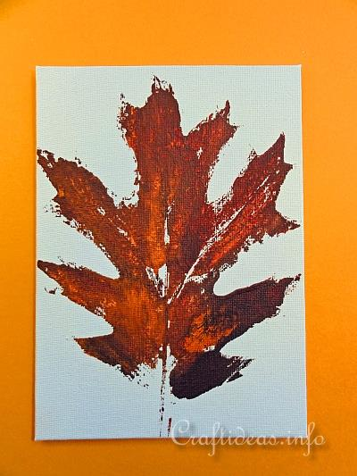 Autumn Crafts For Kids Leaf Prints On Canvas