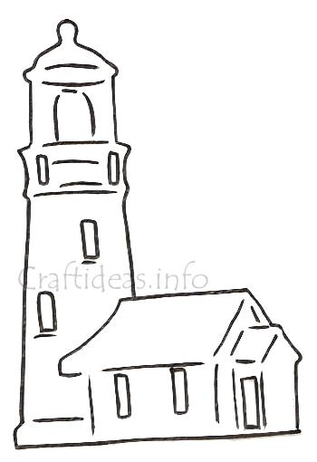 Template For A Silhouette Lighthouse