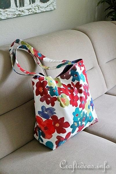 Lined Fabic Tote Sewing Project