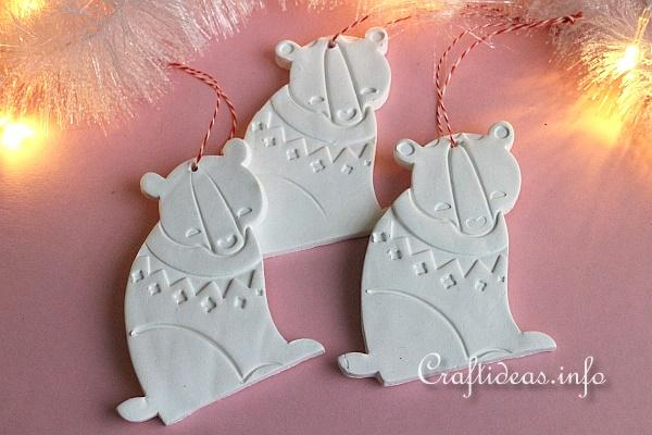 Make Clay Bear Ornaments