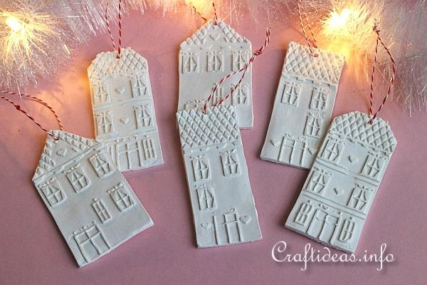 Make Clay House Ornaments