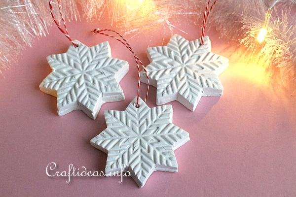 Make Clay Snowflake Ornaments