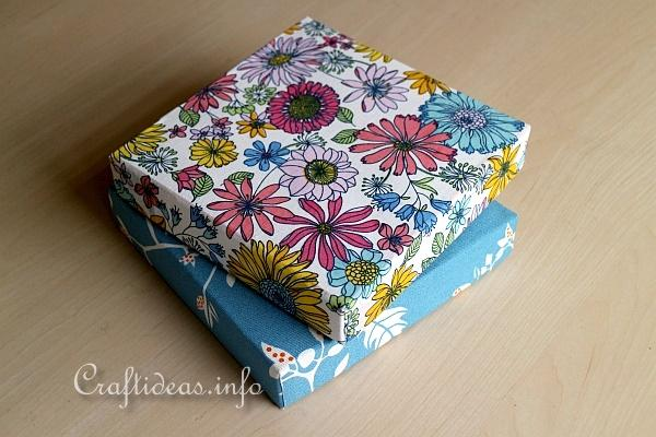Make Fabric Covered Boxes 1