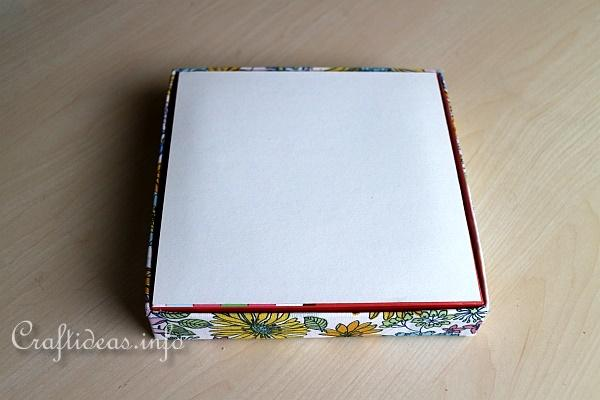 Make Fabric Covered Boxes 4